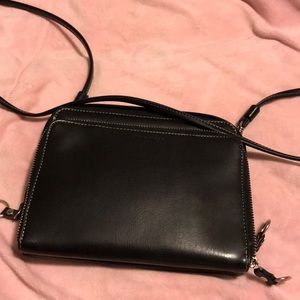Nine West dual zipper bag